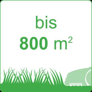 bis 800 m²