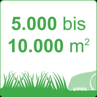 5.000 bis 10.000 m²