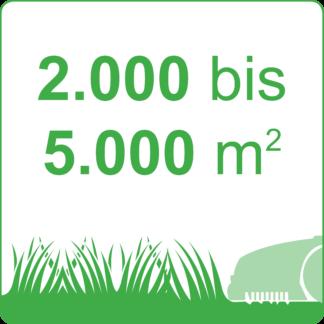 2.000 bis 5.000 m²
